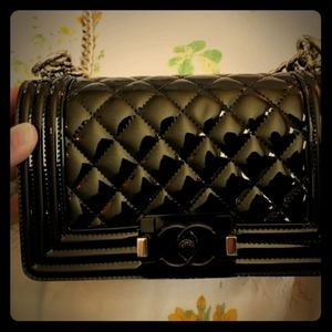 CHANEL Bags - Black out small boy